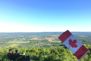 "Figure 4: The ""Look Off"" from Valleyview Provincial Park inspired some mid-summer patriotism."