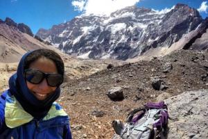 My acclimatization hike to Plaza Francia, which has a fantastic view of Aconcagua. By day 3, I felt tons better and was even able to trail run a bit!