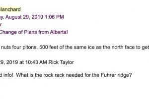 Rick's friend was also nice enough to send us his recommendation for the climbing gear we would need for the rock section: