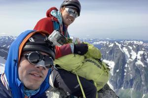 Summit selfie on Forbidden