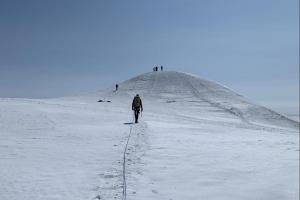 Mike approaching the true summit