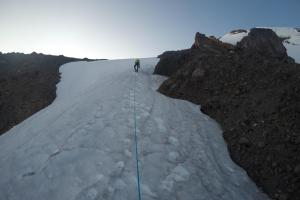 Mike gaining the North Ridge