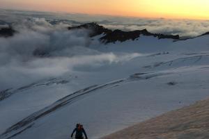 Eddie gaining the North Ridge