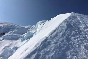 Progressing up the North Ridge